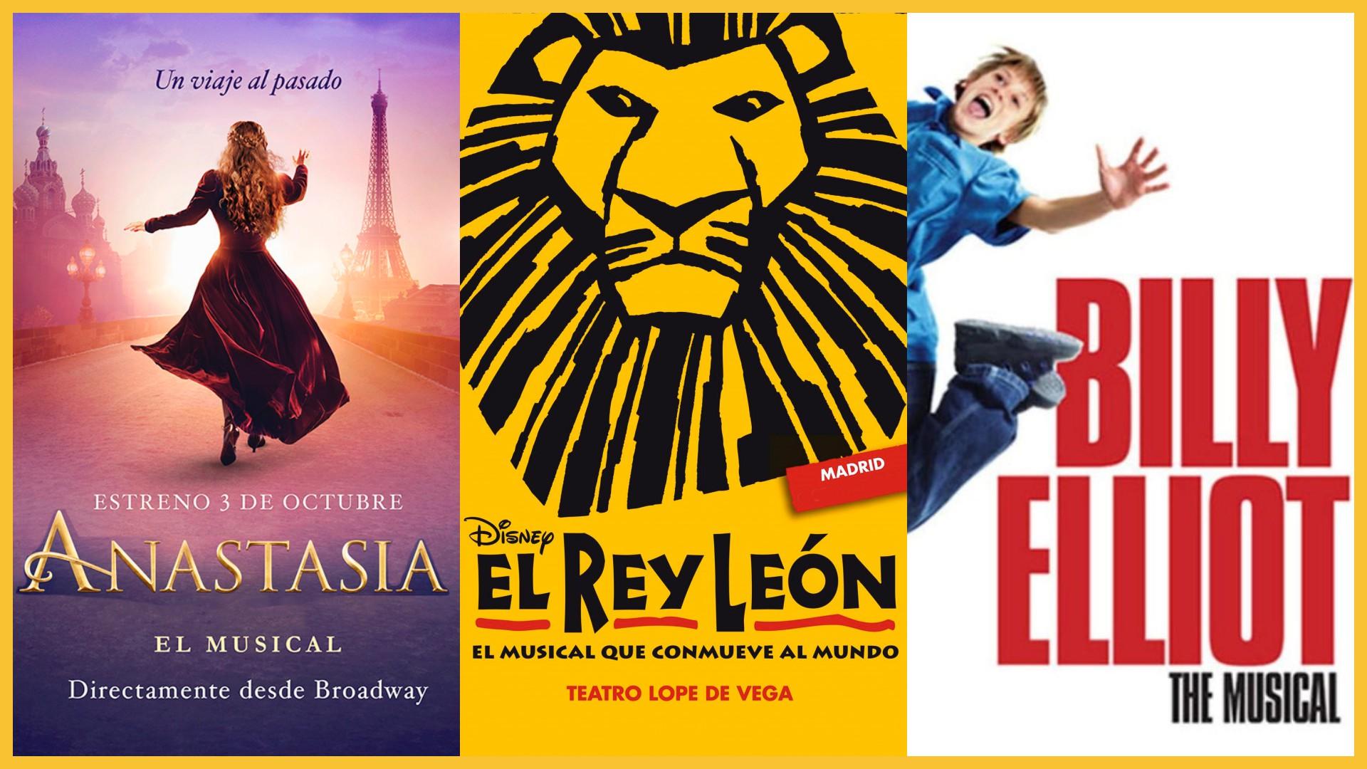 musicals madrid el rey leon billy elliot anastasia