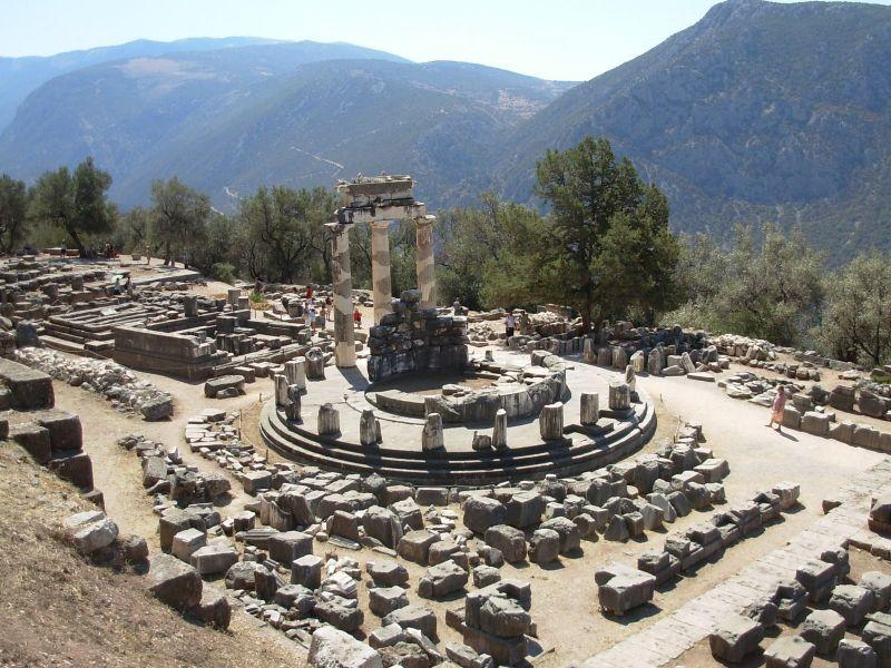 temple de apolo de Delfo grècia