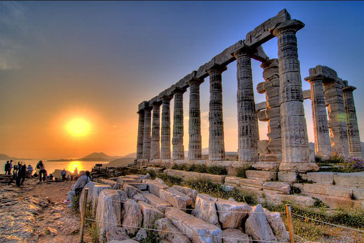 cabo sounion temple poseido